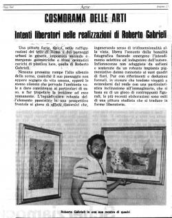 Intenti liberatori nelle realizzazioni di Roberto Gabrieli - Cosmorama delle arti